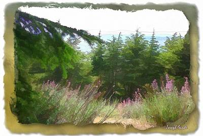 Photograph - Do-00451 Cedar Trees Forest by Digital Oil
