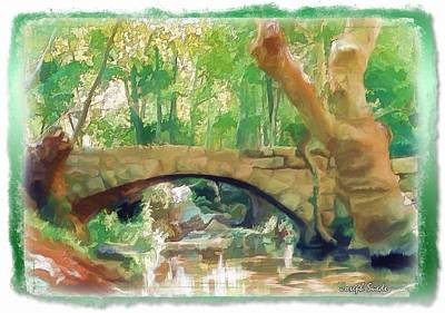 Do-00457 Janneh Bridge Art Print by Digital Oil