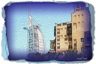 Photograph - Do-00463 Burj Al-arab And Mina Al-salam Hotel by Digital Oil