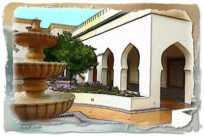 David Bowie - DO-00470 Fountain near Al-Wafi Souk by Digital Oil