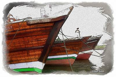 Photograph - Do-00476 Abra Dhow Boats by Digital Oil