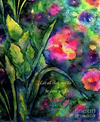 Painting - Do Everything With Love by Hazel Holland