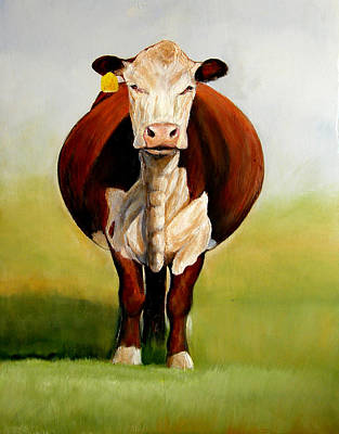 Hereford Painting - Do I Look Fat by Toni Grote