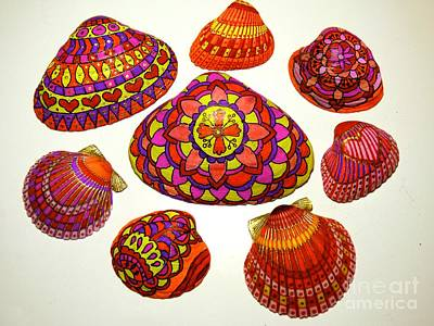 Photograph - Do-it-yourself Colored Shells by Jean Wright