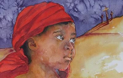 Do Not Be Afraid Art Print by Donna Pierce-Clark