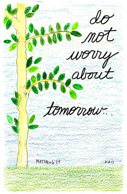 Worries Mixed Media - Do Not Worry by Kristen Williams
