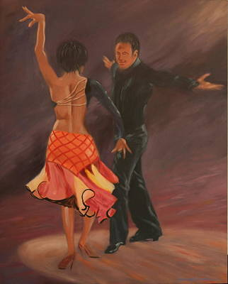 Painting - Do The Cha Cha Cha by Rosencruz  Sumera