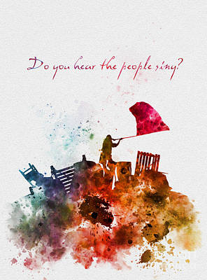 People Mixed Media - Do You Hear The People Sing? by Rebecca Jenkins