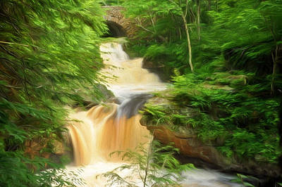 Painting - Doane's Falls In Royalston by Mitchell R Grosky