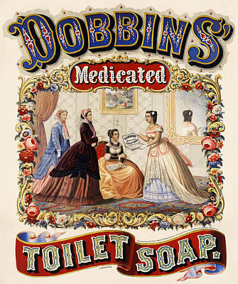 Digital Art - Dobbins Medicated Toilet Soap by ReInVintaged