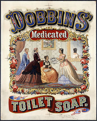 Mixed Media - Dobbins Medicated Toilet Soap - Vintage Advertising Poster by Studio Grafiikka