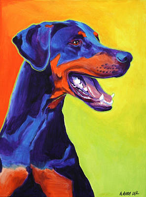 Alicia Vannoy Call Painting - Doberman - Miracle by Alicia VanNoy Call