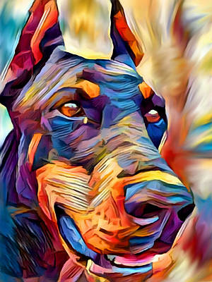 Doberman Pinscher Wall Art - Painting - Doberman 2 by Chris Butler