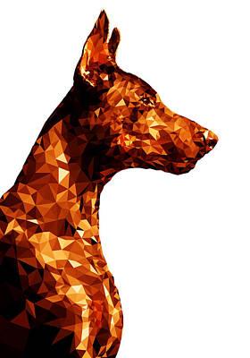 Breed Digital Art - Doberman 2 by Gallini Design
