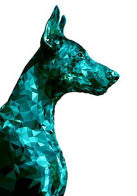 Breed Digital Art - Doberman 3 by Gallini Design