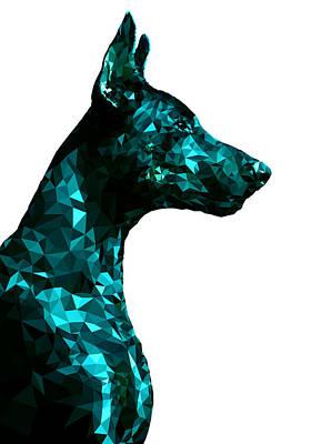 Breed Digital Art - Doberman 4 by Gallini Design