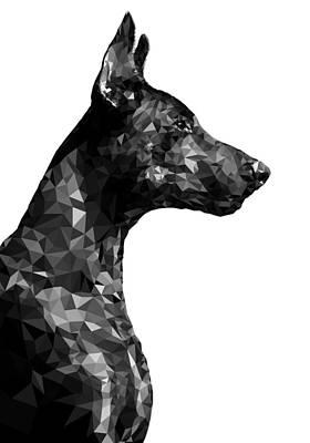Breed Digital Art - Doberman 8 by Gallini Design