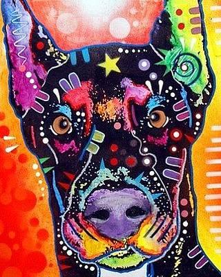 Doberman Pinscher Painting - Doberman by Dean Russo