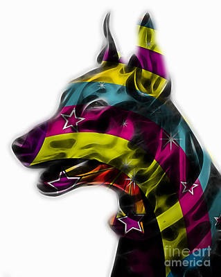 Puppy Mixed Media - Doberman Pinscher Collection by Marvin Blaine