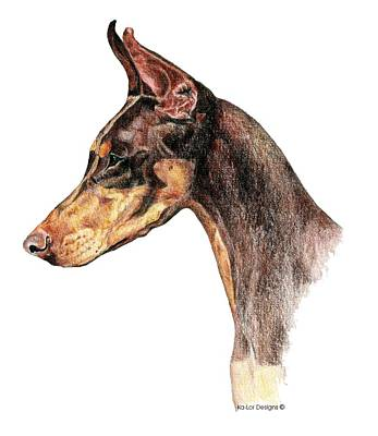 Pinscher Drawing - Doberman Pinscher by Kathleen Sepulveda