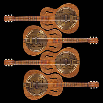 Hand Made Photograph - Dobro 5 by Mike McGlothlen
