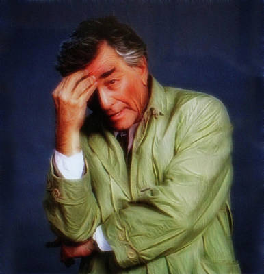 Mixed Media - Doc Braham - In Tribute To Peter Falk by Doc Braham