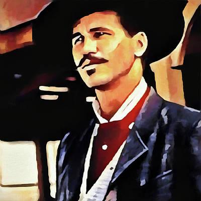 Wyatt Earp Painting - Doc by Dan Sproul