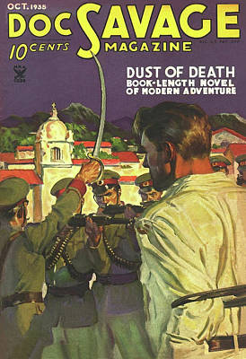 Drawing - Doc Savage Dust Of Death by Conde Nast