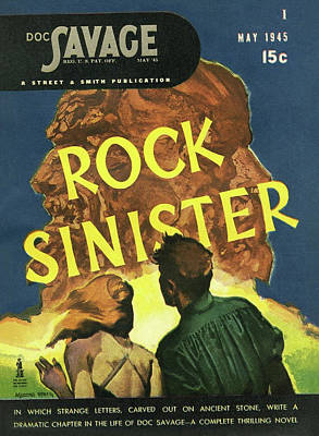 Drawing - Doc Savage Rock Sinister by Conde Nast