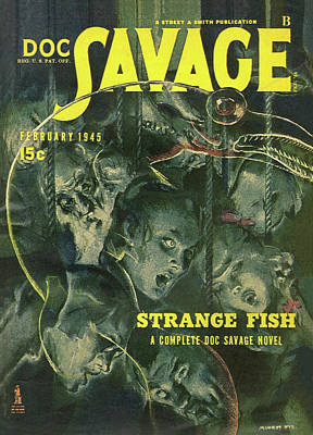 Drawing - Doc Savage Strange Fish by Conde Nast