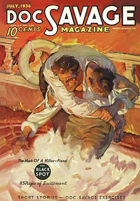 Drawing - Doc Savage The Black Spot by Conde Nast