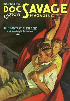 Island Drawing - Doc Savage The Fantastic Island by Conde Nast