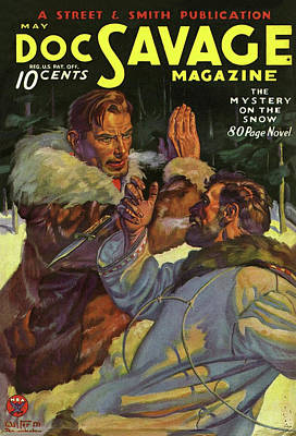 Drawing - Doc Savage The Mystery On The Snow by Conde Nast