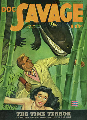 Drawing - Doc Savage The Time Terror by Conde Nast