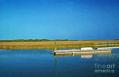 Coastal Georgia Photograph - Dock And Marshes by Laura D Young
