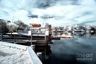 Dock Angles Infrared Art Print