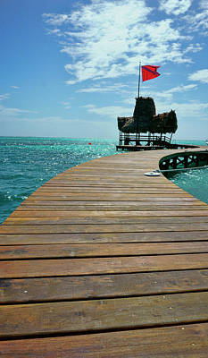 Photograph - Dock At Ambergris Caye by Waterdancer