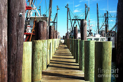 Art Print featuring the photograph Dock At Barnegat Bay by John Rizzuto