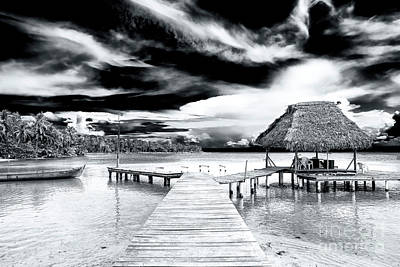 Photograph - Dock At Bocas Del Drago Panama by John Rizzuto