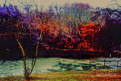 Art Print featuring the photograph Dock At Central Park by Sandy Moulder
