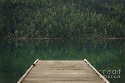 Photograph - Dock At Clearwater Lake, Wells Gray Provincial Park, North Thomp by Carrie Cole