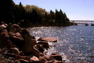 Mount Hope Photograph - dock at Mount Hope Farm Bristol Rhode Island by Tom Prendergast