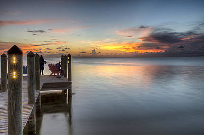 Photograph - Dock At Sunset by Al Hurley