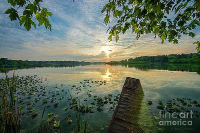 Photograph - Dock At Sunset by David Arment