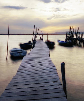 Photograph - Dock At Sunset by Marion McCristall