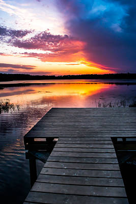 Photograph - Dock At Sunset by Shelby  Young