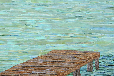 Wall Art - Tapestry - Textile - Dock At The Bay by Pauline Barrett