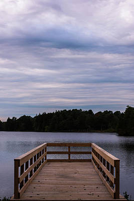 Photograph - Dock At The Lake Lakehurst New Jersey by Terry DeLuco