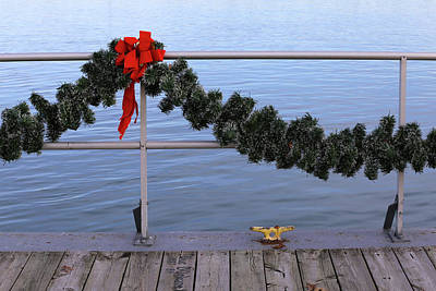 Photograph - Dock Cleat And Garland by Mary Bedy