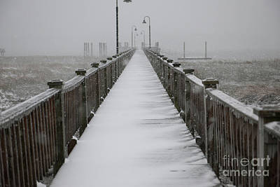 Photograph - Dock Covered In Snow by Dale Powell